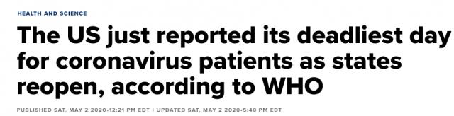 美国24小时死亡人数破纪录! 好意提醒社交隔离竟遭暴力推入湖中